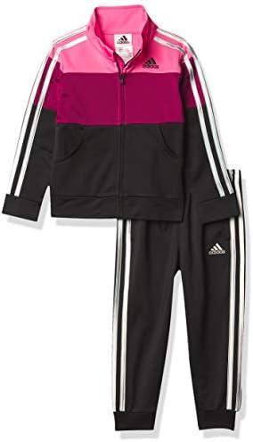 adidas Girls Tricot Jacket Jogger Active Clothing Set Semi Solar Pink 4 product image