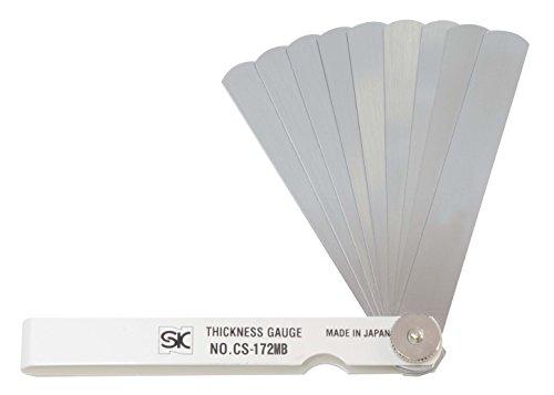 新潟精機 SK シクネスゲージ(すきまゲージ) カラースリーブタイプ 白 9枚組 100mm CS-172MB 0.04-0.30mm