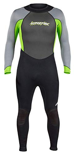 Hyperflex Men's and Women's 3mm Full Body Wetsuit – SURFING, Water Sports, Scuba Diving, Snorkeling - Comfort, Flexible and Anatomical Fit - and Adjustable Collar, Green, L