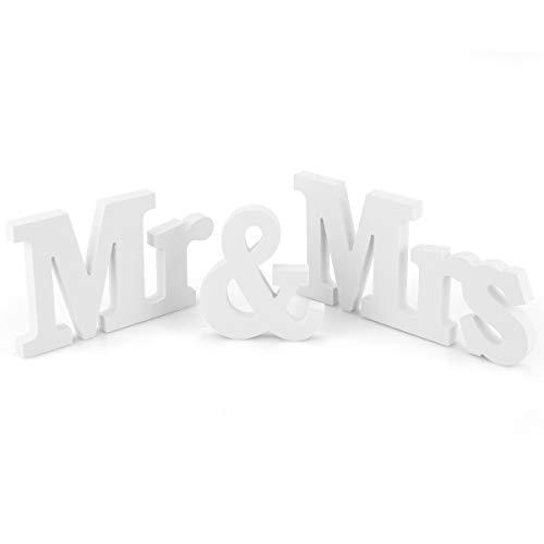 Mr & Mrs Buchstaben Holz Buchstaben Dekoration Geburtstag Hochzeitsfeier Dekoration Hochzeit Requisiten aus Holz Ornamente Hochzeit liefert Weiß