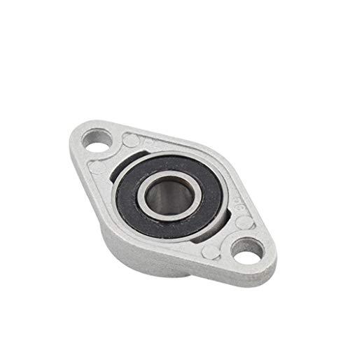 Rodamientos de Block, 4PCS KFL08 8 mm Soporte de eje, rómbico Rodamiento lineal de aleación de zinc Insertar eje de soporte CNC Parte (Size : 4 PCS)