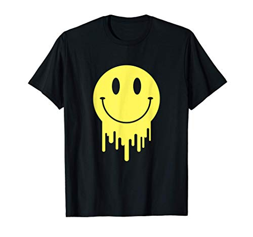 Melted Smiley Face Retro 80s/90s Acid House Gift T-Shirt