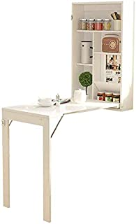 Wall Mounted Table,Fold Out Convertible Wall Desk Small Spaces White Multi-Function Computer Desk,Writing Desk Home Office Desk