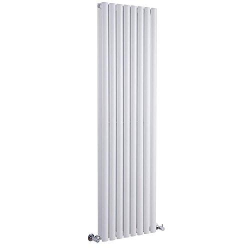 Milano Radiador de Diseño Revive Vertical - Blanco - 1228W - 1600 x 354mm