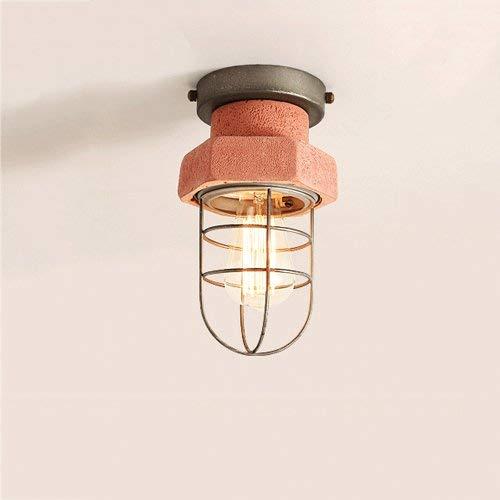 Retro betonlook, steen-look, plafond, metaal, creatief maallon ijzer, E27-lichtbron, plafondlamp voor keuken, balkon, hal.