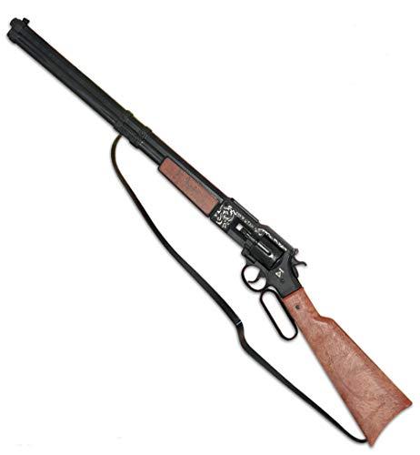 KarnevalsTeufel Gewehr Utah Wilder Western Flinte Cowboy Spielzeuggewehr 12 Schuss Cowboygewehr Waffe Texas Sheriff Wicke