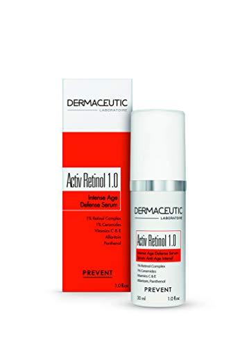 Activ Rétinol 1.0% de Dermaceutic - Sérum anti-âge à très haute intensité à base de rétinol Sérum pour le visage contenant de la Vitamine C et E – 30ML