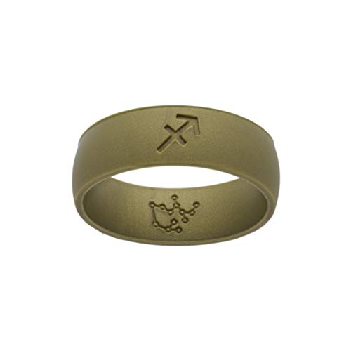 Leo's Creations Sagittarius Zodiac Ring (Army Green, 7)