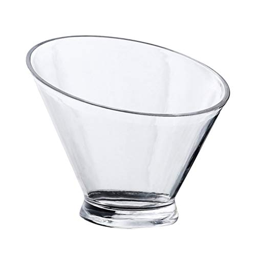Cabilock Ice Bucket Acrylic Ice Beverage Bowl Bucket Clear Angled Serving Bowl for Salad Snack Fruit Container Champagne Wine Drinks Beer Container for Home Party Bar 13. 5cm