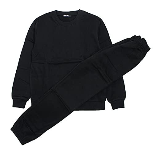 スウェット 上下 子供 男の子 女の子 裏起毛 トレーナー スウェットパンツ 上下セット ブラック 130cm