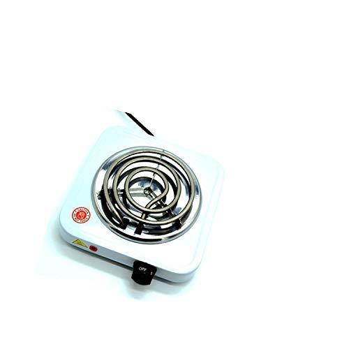 HJJH Einzelner elektrischer Brenner, Einstellbarer Heizplattenbrenner im Aufsatzdesign, einstellbare Temperaturregelung, Metallgehäuse für Einfamilienhäuser,500W
