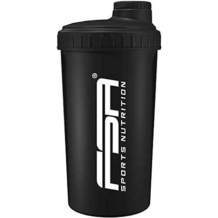 Protéine Shaker 700 ml, Bouteille, Lavable au lave vaisselle et sans BPA, FSA Nutrition, Noires
