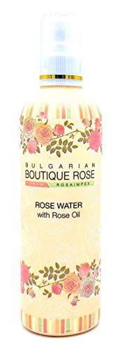 Agua de Rosa con Spray con Aceite Natural de Rosa 330ml de Boutique Rose, Sin Conservantes, Sin Parabenos