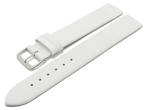 Meyhofer Uhrenarmband Kronach 20mm weiß Leder Spezialanstoß für verschr. Gehäuse Myfcklb394/20mm/weiss