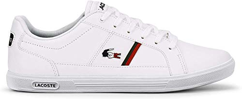 Lacoste Herren Europa TRI1 SMA Sneaker, Weiß (Wht/NVY/Red), 44 EU