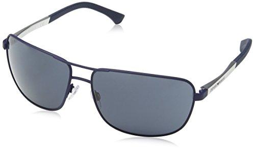 Emporio Armani Unisex EA2033 zonnebril, blauw (Blue Rubber 313187), X-Large (fabrikantmaat: 64)