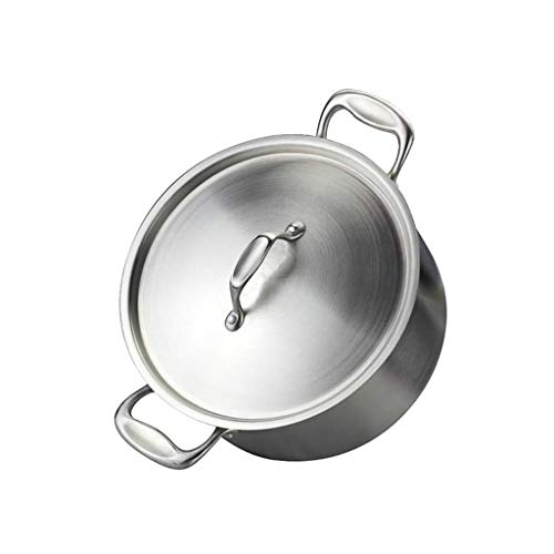 SXWGX LARGE HEAVY ECOLOGICAL NICKEL FREE Stainless Steel Stock Pot ,Quart Cooking Pot and Canning Pot with Lid (Size : L)