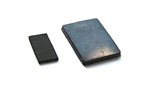 Karelian Heritage Regular Shungite Crystal Phone Plate Sticker, Natural EMF Protector 2 Pieces Set S006