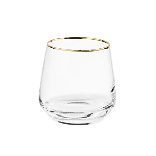 Butlers TOUCH OF GOLD 6x Glas mit Goldrand 345 ml