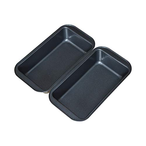 Nonstick Loaf Pan, 9x5 Inch Carbon Steel Bread Baking Pan for Oven Baking , Set of 2 -Gray