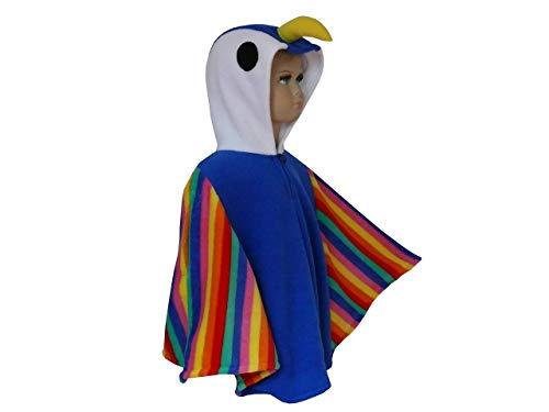 faschingkostüm kinder karneval halloween cape poncho vogel papagei