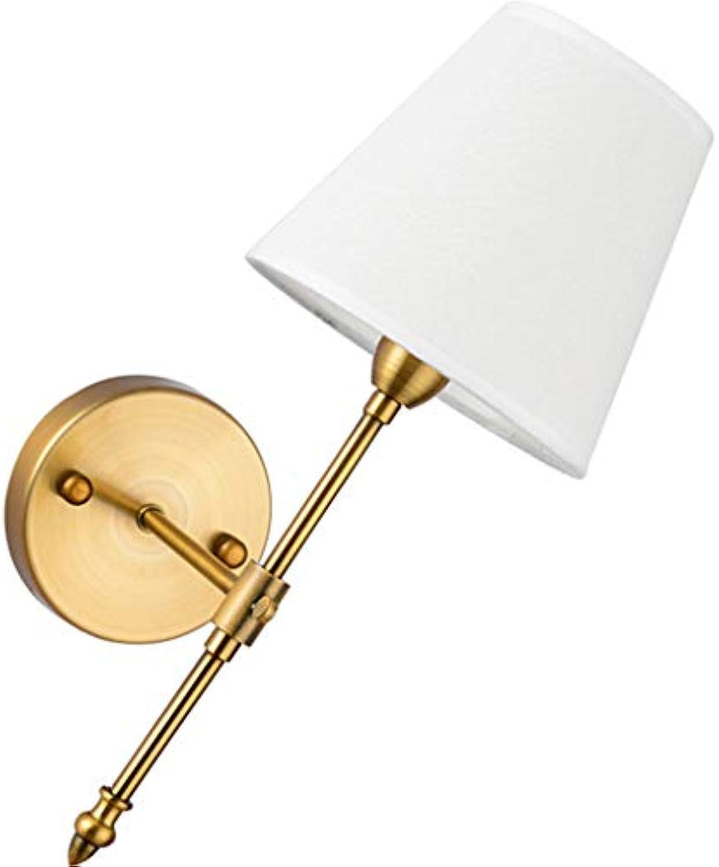 Wandleuchten XL American Wall Lamp Antiken Leinen Schatten Nachttischlampe Spiegel Scheinwerfer Hotel Zimmer Korridor Aisle
