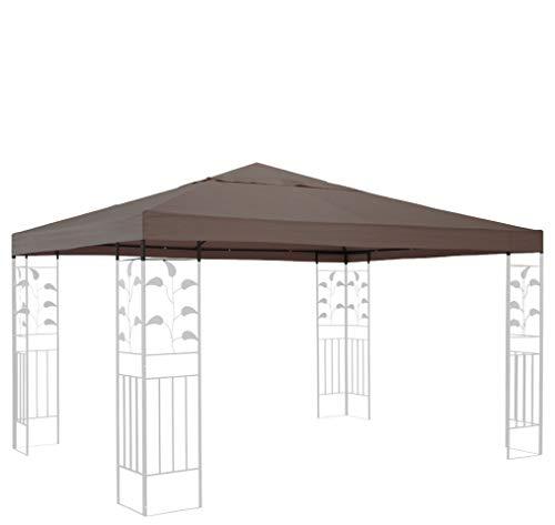 QUICK STAR Ersatzdach für Rank Pavillon 3x3m Taupe Ersatzbezug Pavillondach