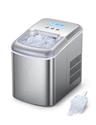 Ice Maker Countertop Machine with LCD Display, Self-Cleaning Function, 9...