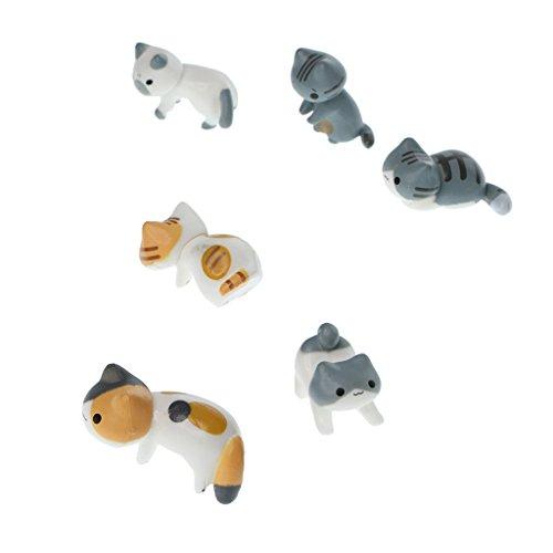 Sharplace Mikro Landschaft Mini Figuren Set - Katzen # 2, 6 Stücke