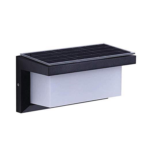 CAIMEI Aplique de Pared para Exteriores con Luz Solar para Montaje en Pared, Lámpara de Pared para Exteriores a Prueba de Agua, Luces Solares para Pórticos Exteriores, Accesorios de Iluminación Led p