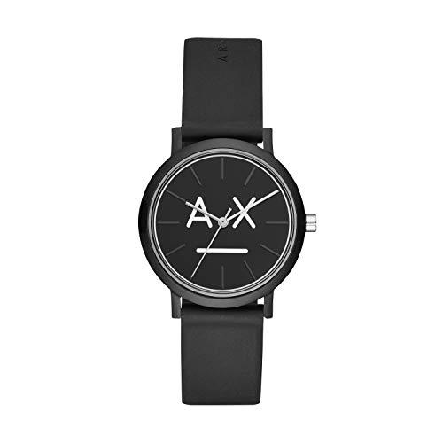 Armani Exchange dames analoog kwarts horloge met siliconen armband AX5556