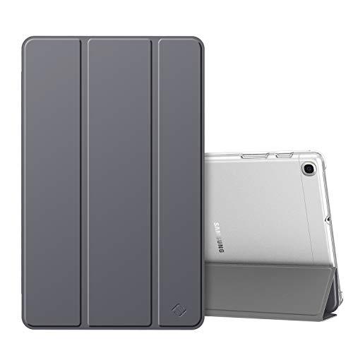 Fintie hoes case voor Samsung Galaxy Tab A 10,1 SM-T510/T515 2019, ultradunne beschermhoes met transparante achterkant cover voor Samsung Galaxy Tab A 10.1 inch 2019 tablet, Ruimte Grijs