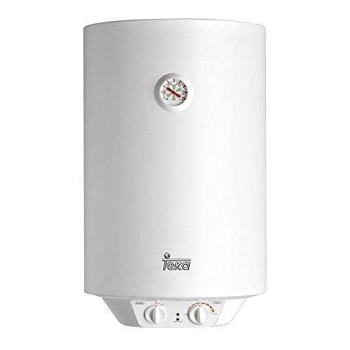 Teka - Termo Electrico Ewh30, 30L, 594 X 360 X 340 mm, Tanque Esmaltado, Resistencia Ceramica, Termostato De Temperatura 30-75º, 1500W, Blanco