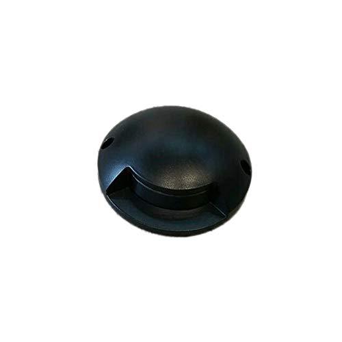 WXL LED Bodenenbauleuchte, Bodeneinbaustrahler Aussen Led Wasserdichtes, Rundes Bodenlicht for Den Außenbereich (Color : Black, Size : Warm Light)