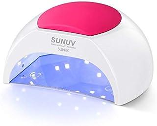 لامپ SUNUV SUN2C 48W LED UV ناخن با 4 تنظیم تایمر، Senor برای ناخن ژل و انگشت پا