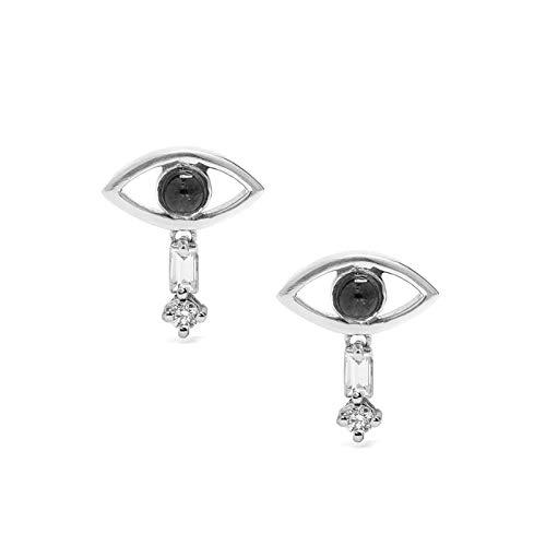 925 Sterling Silver Stud Earrings Aaaaa Zircon Bohemian Style Eyes Earrings For Women Fine Jewelry