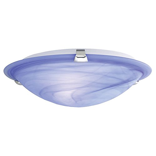 Decken Lampe Licht Leuchte Wohnzimmer Diele Treppenhaus Glas blau weiß Eglo 22349 SAMOA