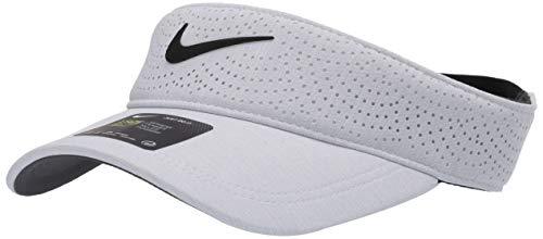Nike Aerobill-Visier für Damen, Damen, Mütze, Women's Nike Aerobill Visor, Himmelgrau/Anthrazit/Schwarz, Einheitsgröße