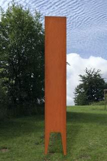 Götterfunken GmbH Alberich Edelrost Motiv Ohne Motiv Stele Gartendekoration Made in Germany H=125 cm B=25 cm