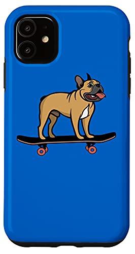 iPhone 11 Skateboarding Fawn French Bulldog Skateboard Brown Frenchie Case