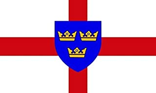 Flag Co New East Anglia County Flag Large 5Ft X 3Ft With 2 Metal Eyelets