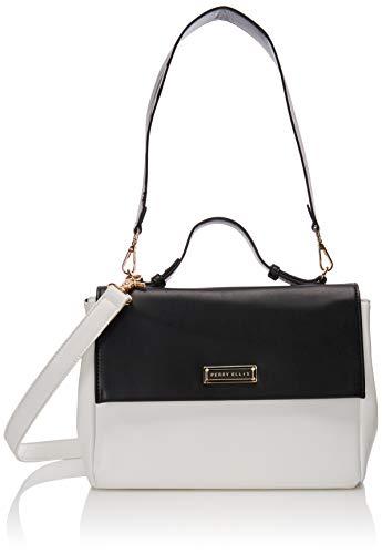 Perry ellis 63105 bolso bandolera, color Blanco/Negro