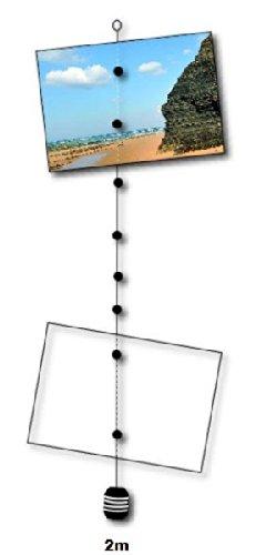 Magnetseil 2 m für Bilder, Postkarten, Notizen inl. 12 Ultra Starke Magnete
