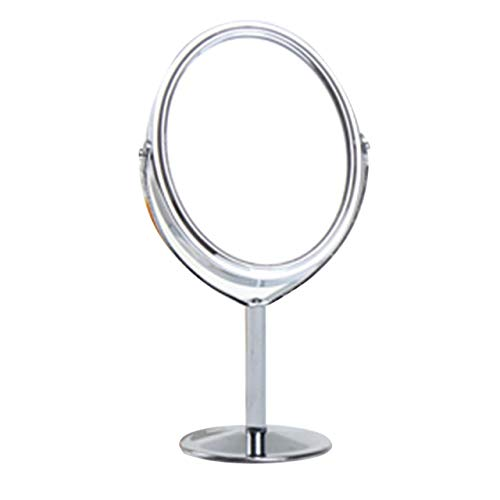 EmNarsissus Specchio da Trucco in Metallo Specchio da Trucco per Bagno Camera da Letto Specchio Rotante da Tavolo 1: 2 Funzione di ingrandimento Specchio per Il Trucco