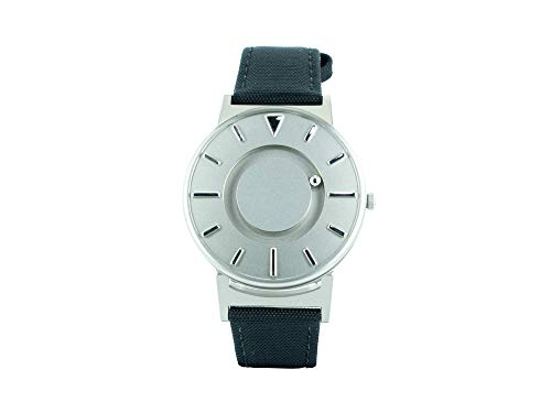 Reloj de Cuarzo Eone Bradley Canvas Noir, 40 mm, Plata, Piel, BR-C-Black