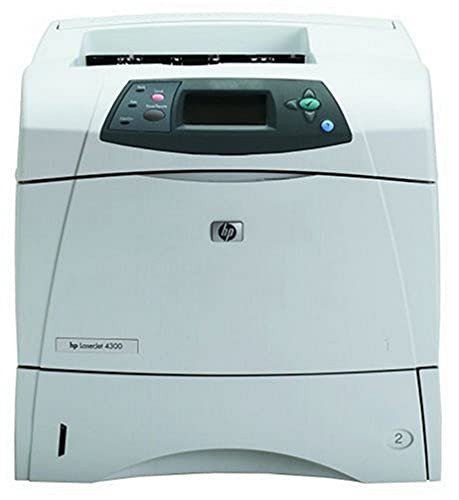 : HP LaserJet 4300 - Printer - B/W - laser - Legal, A4 - 1200 dpi x 1200 dpi - up to 43 ppm - capacity: 600 sheets - Parallel
