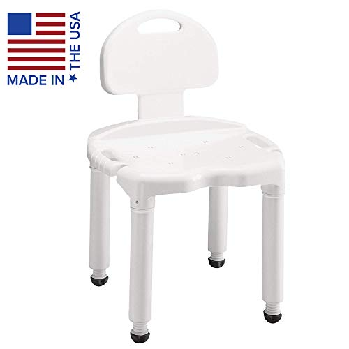 Carex Bath Seat And Shower Chair With Back For Seniors, Elderly,...
