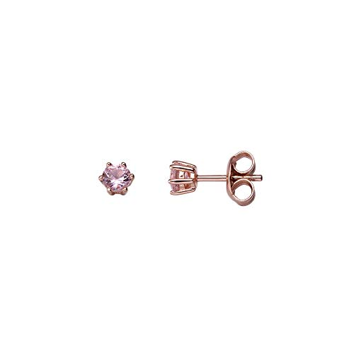 XENOX Ohrringe XS1951RR Damen Ohrstecker Sterling-Silber 925 Rose rosa Zirkonia