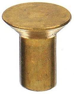 3//16 X 1//2 Round Head Brass Rivets; 100 PCS Box