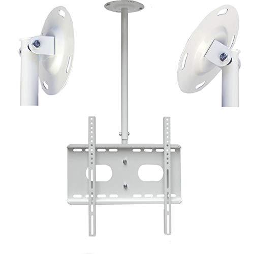 TV plafondbeugel dakbeugel wandbeugel en muurbeugel (wit) uittrekbaar kantelbaar 360° voor alle plasma LCD LED TFT tv van 30 tot 63 inch (76cm - 160cm) met VESA (100x100mm tot 400x400mm)